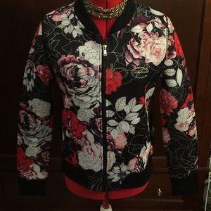 Jackets & Blazers - Beautiful Designer BEBE FLORAL PRINT JACKET